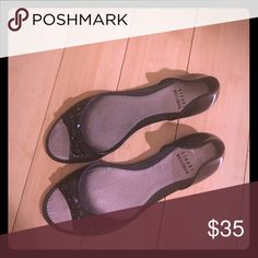 Stuart Weitzman Jellies in Black Start the summer off in style!  Perfect for lounging by the pool.  Enjoy! Stuart Weitzman Shoes Flats & Loafers
