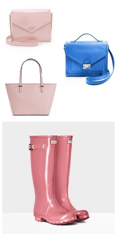 The Pantone Color of the Year 2016 is perfect for accessories and purses.....and these are some of the must have pieces in rose quartz and serenity!
