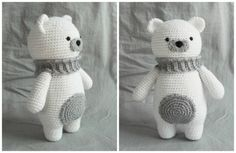 Amigurumi Polar Bear - free crochet pattern at How To Amigurumi