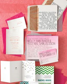 """make ombre invites: brush 1"""" wide strip of watercolor along top edge of invite, blend downward w/clean brush."""