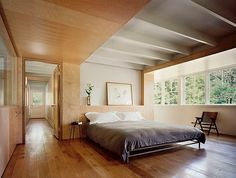 bedroom — Modern barn conversion in Connecticut