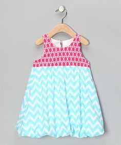 Take a look at this Fuchsia & Aqua Zigzag Bubble Dress - Infant, Toddler & Girls on zulily today!