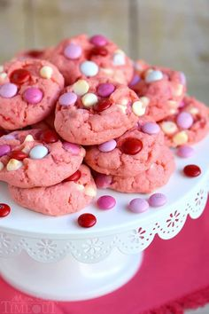 Super moist and delicious Strawberry and White Chocolate Cake Mix Cookies! This recipe uses a SECRET INGREDIENT for the moistest cookies EVER!