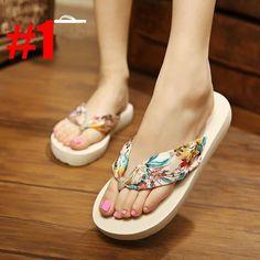 Brand Designer Summer Women Shoes High Heels Flip Flops Platform Wedges For Women  Sandals Flip Slippers Female Beach Woman Shoes 124e26dd6fce