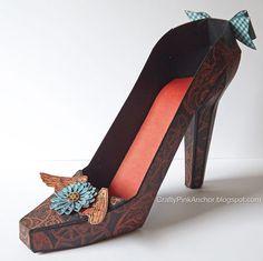 Steampunk High Heel Shoe http://craftypinkanchor.blogspot.com.au/2013/08/steampunk-high-heel-shoe.html