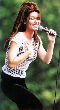 Shania Twain .... Soon as I want to cut my hair.... I find a picture of my idol that helps motivate me to keep it long