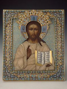 RELIGIOUS *+* ICONS Icon of Christ the Pantocrator, 1881 ☩