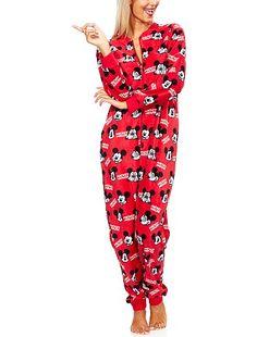 "Grenouillère en micropolaire ""Mickey Mouse"" Femme 24,99€ Pyjama Grenouillère imprimé ""Mickey Mouse"" - Col rond - Fermeture zippée - Micropolaire, tou"