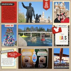 Nice overall balance and use of arrows  yzerbear19 - inspirational scrapbook layout