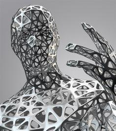 abstract metal man design