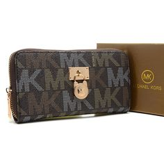 Michael Kors Hamilton Continental Large Coffee Wallet