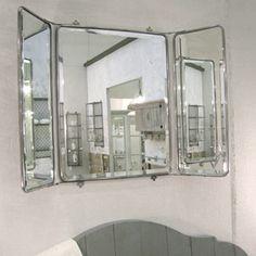 Miroir 3 faces Fontainebleau en nickel Chehoma