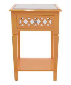 Look what I found on #zulily! Orange Accent End Table #zulilyfinds