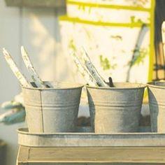 Set 3 pots de fleur en zinc ESSCHERT DESIGN - Pot, bac, jardinière