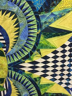 detail, Bodacious by Claudia Clark Myers, quilted by Marilyn Badger.  Photo by Sew Fun 2 Quilt: 2015 HMQS SLC