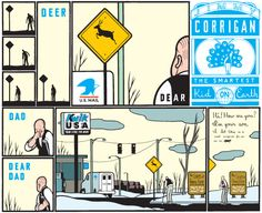 Comics of the Decade: Chris Ware's Jimmy Corrigan – The Smartest Kid on Earth Jimmy Corrigan, Chris Ware, Dear Dad, Town And Country, Comic Strips, Dads, Sketches, Earth, Comics