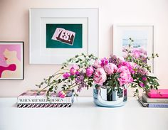 brighten up a desk with fresh flowers. | domino.com