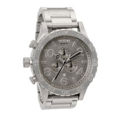 Nixon Men's A083-1033 Stainless Steel Analog with Silver Dial Watch NIXON. $500.00. Stainless steel case. Quartz movement. Water-resistant to 300 m (984 feet). Case diameter: 52 mm. Scratch resistant mineral