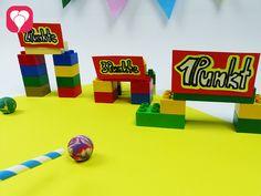 Lego Spiele für Drinnen - Lego Mini-Golf mit Trinkhalm