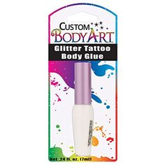 Custom Body Art 7ml Bottle of Glitter Tattoo Body Glue -- Click image for more details. (This is an affiliate link and I receive a commission for the sales) #Makeup