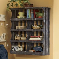 Rustic Etagere.. perfect for laundry room when it is finished!