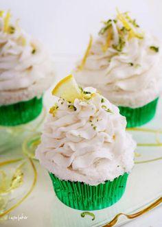 Margarita Cupcakes by I am Baker....lemon cake mix, tequila...lime buttercream frosting  http://iambaker.net/margarita-cupcakes/