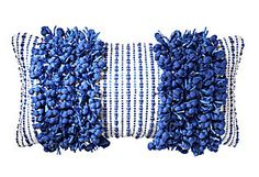 Funberry Striped 14x28 Pillow, Blue  Design Accents