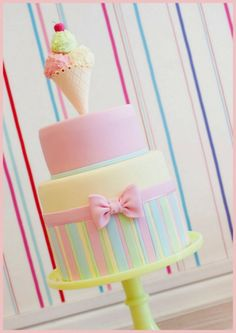 Gorgeous Ice Cream inspired cake