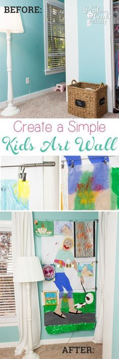 Love this Cheap Home Decor for a kids room. Just a quick item from IKEA to make an art wall. So Fun! Inexpensive Home Decor, Easy Home Decor, Cheap Home Decor, Low Cost, Do It Yourself Home, Art Wall Kids, Decorating On A Budget, Home Art, Home Furnishings
