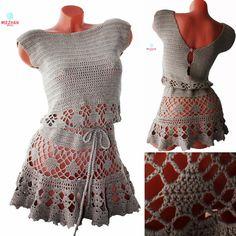 Dress Crochet dress crochet in handmade hand by MezhanBoutique