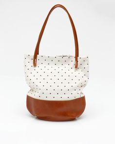 Riley Tote In Polka Dot from needsupply.com #r29summerstyle