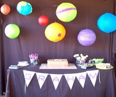 Smarty Parties: Graham's Solar System 5th Birthday
