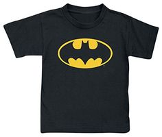 Batman Logo Camiseta de Niño/a Negro 134/146 #regalo #arte #geek #camiseta