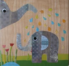 Elephant Love Collage - eco friendly - by Maple Shade Kids. $59.00, via Etsy.
