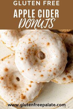 Dairy Free Pumpkin Recipes, Dairy Free Treats, Gluten Free Donuts, Gluten Free Bakery, Gluten Free Recipes For Breakfast, Gluten Free Desserts, Paleo Sweets, Free Breakfast, Mini Desserts