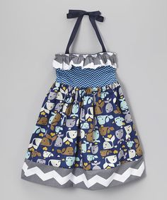 Another great find on #zulily! Navy Whale Chevron Halter Dress - Infant, Toddler & Girls by Heavenly Things for Angels on Earth #zulilyfinds