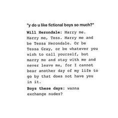 Fictional Boys