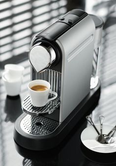 Get the new Nespresso CitiZ in White with a lightweight, ergonomic design. My Coffee, Coffee Drinks, Coffee Time, Coffee Maker, Starbucks, Opening A Coffee Shop, Best Espresso Machine, Liquid Gold, Black And White