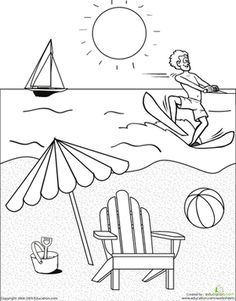 Color The Beach Scene