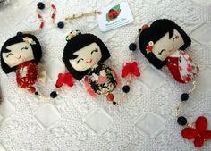 Móbile Decorativo - Kokeshi (Japonesinha) -