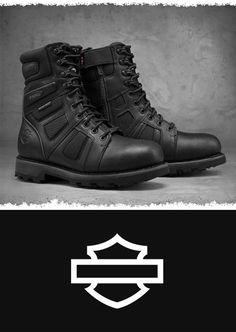 The rugged look and great quality will be the perfect addition to your riding collection. | Harley-Davidson Men's Welton Waterproof FXRG Performance Boots