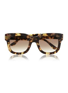 Tortoiseshell sunglasses.