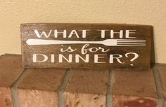 What the fork is for dinner funny farmhouse kitchen rustic reclaimed wood country