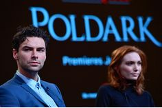 Aidan Turner and Eleanor Tomlinson. Photo by Rahoul Ghose/PBS