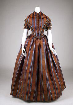 Dress, 1845-50, American, silk