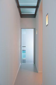 glass interior door with sandblasted glass design