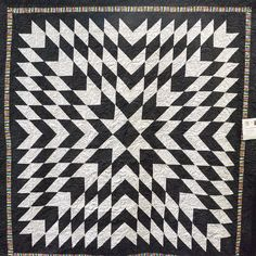"""""""Black and Grey Starburst"""" by Abby Fisher.  2016 El Camino Quilters guild show (California)"""