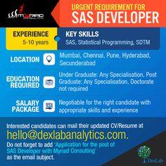 Urgent Requirement for #SASDeveloper