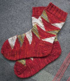 Flying geese socks: First Fall 2013