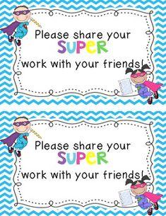 Writer's Workshop Sharing Cards [Freebie!]